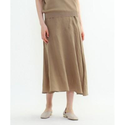 INDIVI(インディヴィ) ラミーボイルアシメ切替マーメイドスカート
