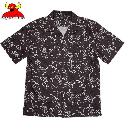 トイマシーン TOY MACHINE SECT FUROSHIKI PRINT SHIRTS(BROWN)トイマシーンシャツ TOY MACHINEシャツ トイマシーン半袖