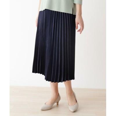 SHOO・LA・RUE/シューラルー キラキラプリーツスカート ネイビー(093) 03(L)