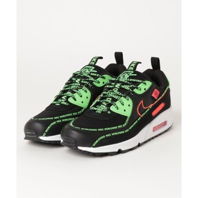 スニーカー NIKE AIR MAX 90 WW (BLACK/FLASH CRIMSON-GREEN STRIKE-WHITE) 【SP】