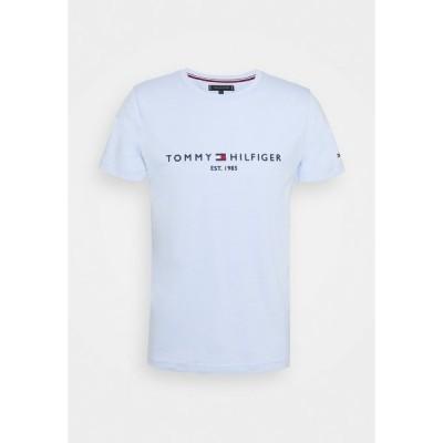 トミー ヒルフィガー Tシャツ メンズ トップス LOGO TEE - Print T-shirt - sweet blue