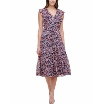 トミー ヒルフィガー レディース ワンピース トップス Gansett Floral-Print Dress Sky Captain/ Grenadine