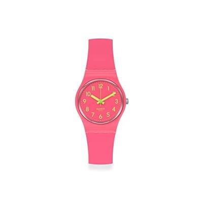 腕時計 スウォッチ レディース LP131C Swatch Lady Quartz Silicone Strap, Pink, 12 Casual Watch (Mod