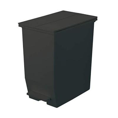 リス SOLOW フタ付きゴミ箱 ペダルオープンツイン 45L ブラック GSLW006 ソロウ