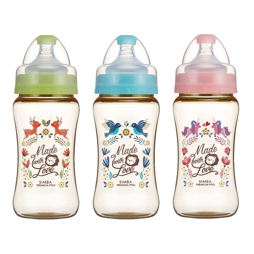 小獅王辛巴 - 桃樂絲PPSU寬口雙凹中奶瓶270ml