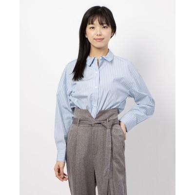 チーク Cheek 100/2ブロード無地・ストライプBIGシャツ (SAX)
