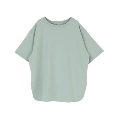 (titivate/ティティベイト)カットソービッグシルエットTシャツ/レディース ブルーグリーン