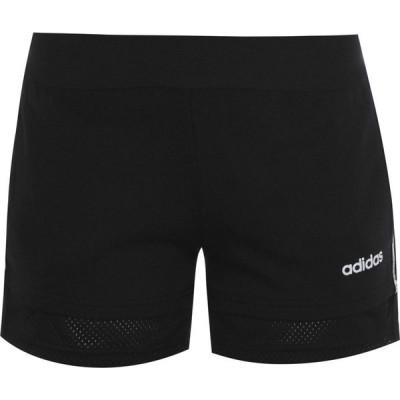 アディダス adidas レディース フィットネス・トレーニング ショートパンツ ボトムス・パンツ Essentials Mini Me Shorts Black/White
