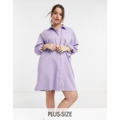 ローラ メイ Lola May Curve レディース ワンピース シャツワンピース ワンピース・ドレス Shirt Dress In Lilac ライラック
