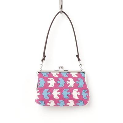 チャイハネ / 【カヤ】東欧風プリント帆布がま口ミニハンドバッグ WOMEN 財布/小物 > ポーチ
