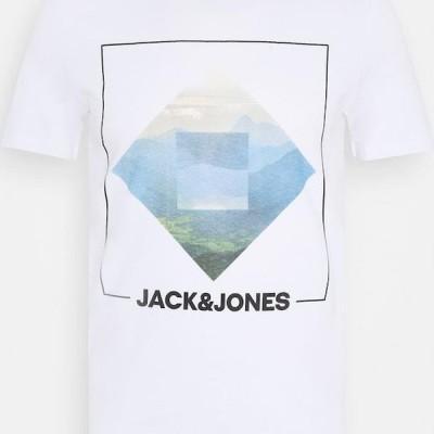 ジャックアンドジョーンズ メンズ ファッション JJBARISTA TEE CREW NECK - Print T-shirt - white