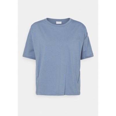 ヴィラ Tシャツ レディース トップス VISHOULDE - Basic T-shirt - colony blue