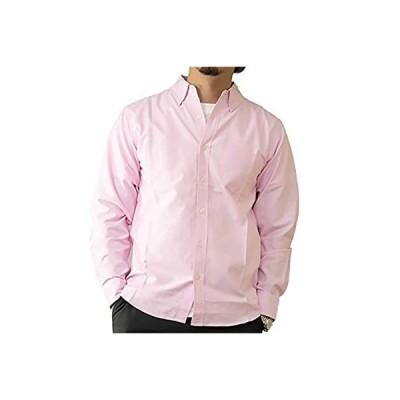 [ ビッグラフ ] シャツ カジュアル y ビジネス トップス 襟 付き ボタン ダウン オックスフォード カラー 長袖 ダンディ かっこいい ユニー