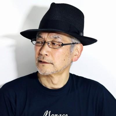 春 夏 STETSON ストローハット 麦わら帽子 天然草木 HAT 涼しい 帽子 紳士 メンズ 日本製 ステットソン 黒 ブラック 父の日