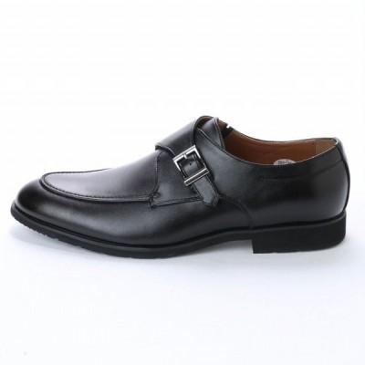 マドラス U.P renoma ユーピーレノマ U3575 防滑 幅広 消臭 メンズ 多機能ビジネスシューズ モンクストラップ 紳士靴 革靴 ブラック