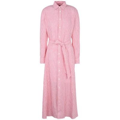 POLO RALPH LAUREN ロングワンピース&ドレス レッド 2 麻 100% ロングワンピース&ドレス