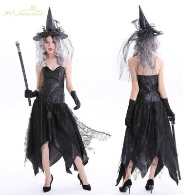 ハロウィン ワンピーズ 魔女 巫女 コスプレ専用 レディース 大人 Halloween 舞台 欧米風 変装 悪魔 パーティー用 童話