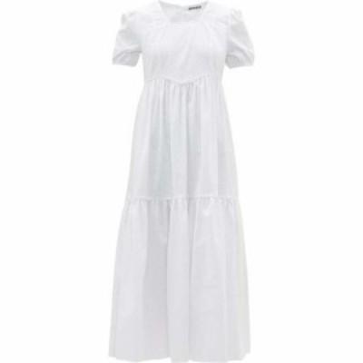 バットシェヴァ Batsheva レディース パーティードレス ワンピース・ドレス Broderie-anglaise cotton dress White