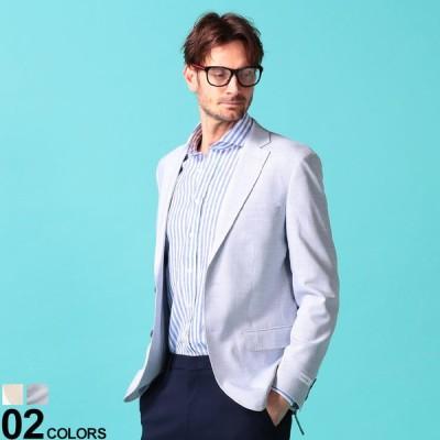 Calvin Klein (カルバン クライン) ストレッチ 無地 シングル 2ツボタン ジャケット SLIMFIT CKMOBRIDGE7AX