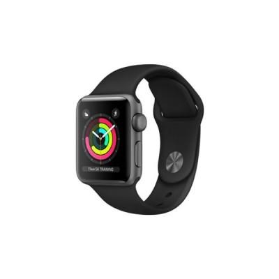 Apple Watch Series 3 GPSモデル 38mm スペースグレイアルミニウムケースとブラックスポーツバンド レギュラー MQKV2J/A