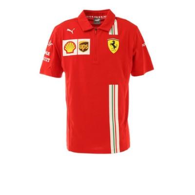 プーマ(PUMA)フェラーリ チーム ポロシャツ 半袖 763032 02 RED