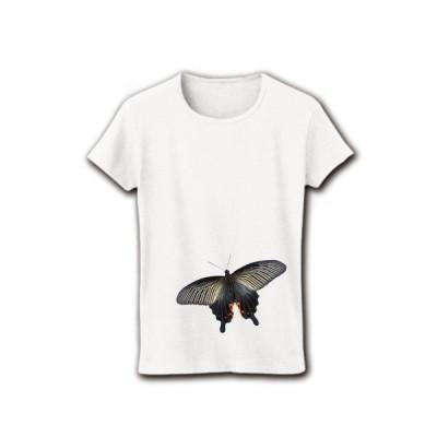 クロアゲハ リブクルーネックTシャツ(ホワイト)