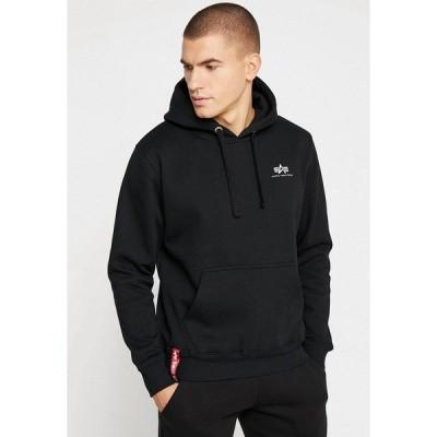 アルファインダストリーズ パーカー・スウェットシャツ メンズ アウター BASIC HOODY SMALL LOGO - Hoodie - black