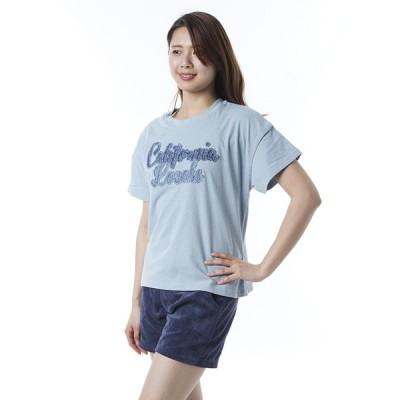 オーシャンパシフィック Ocean Pacific OP 日本正規品 レディース 半袖 Tシャツ デニム ロゴ 切り取り 可愛い 印象的 綿