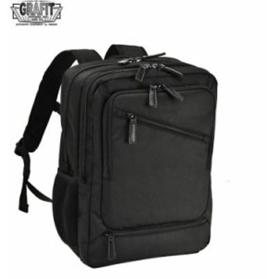 ビジネスバッグ リュックサック デイパック メンズ B4 ウレタン内装 PC・タブレット対応 キャリーバー通し ビジネス 通勤 出張 黒 #42562