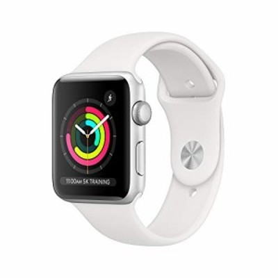 AppleWatch Series3 GPS 42mm - Silver Aluminum Case with White Sport Band