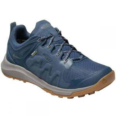 キーン KEEN レディース ハイキング・登山 スニーカー シューズ・靴 Explore Low Waterproof Mountain Sneakers MAJOLICA BLUE
