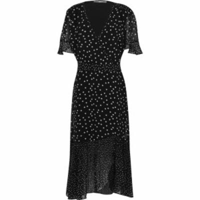 オアシス Oasis レディース ワンピース ミドル丈 ワンピース・ドレス Curve Spot Midi Dress Black and White