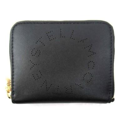ステラ マッカートニー コンパクト ラウンド財布 財布 ブラック フェイクレザー 570271 ランクA