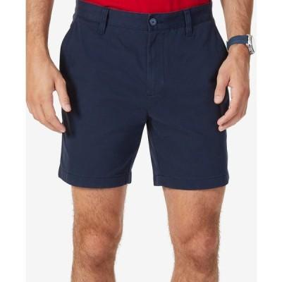 """ナウティカ カジュアルパンツ ボトムス メンズ Men's Stretch Flat Front 6"""" Shorts True Navy"""