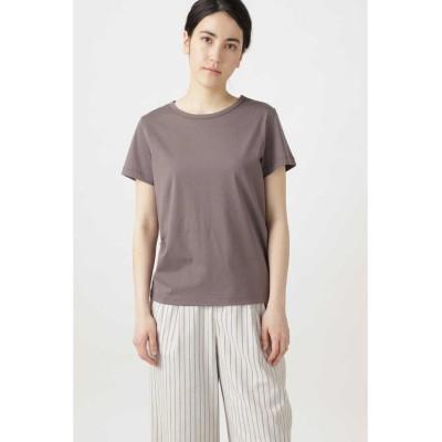 (HUMAN WOMAN/ヒューマンウーマン)新きょう綿Tシャツ/レディース チャコール1
