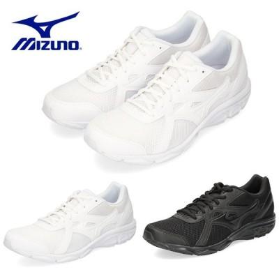 ミズノ MIZUNO メンズ レディース スニーカー マキシマイザー22 K1GA2002 ホワイト ブラック 3E ランニング 通学 WW-66-201 BB-11-209