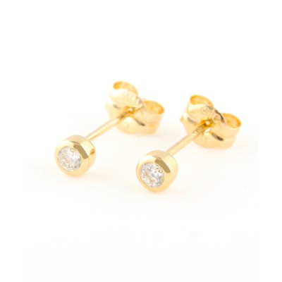 ピアス K18 ダイヤモンド 0.1ct ピアス「ブライト」