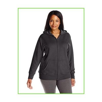 Just My Size Women's Plus-Size Full Zip Fleece Hoodie, Ebony, 5XL【並行輸入】【新品】