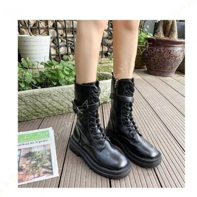ブーツ レディース マーティンブーツ 黒 編み上げ ブーツ 滑り止め 秋冬 通学 通勤 カジュアル 安定感 ショートブーツ 靴 ロングブーツ シューズ おしゃれ