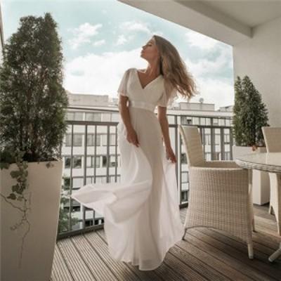 白 ワンピース ドレス 可愛い おしゃれ ワンピ Aライン レディース ワンピース 夏 半袖 レディース ファッション 森ガール ワンピース 大