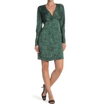 エキプモン レディース ワンピース トップス Rommily Leopard Print Mini Dress MOR JADE T
