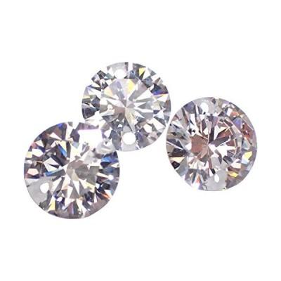 2hole 2穴 10mm 57カット 10個セット キュービックジルコニア 穴開き ルース 裸石 最高品質AAAAAクリスタル 人口ダイヤ