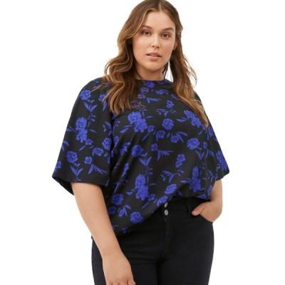 レディース 衣類 トップス ellos Women's Plus Size Relaxed Wide Sleeve Blouse ブラウス&シャツ