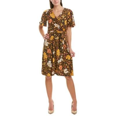 ドナモーガン ワンピース トップス レディース Donna Morgan A-Line Dress coral & olive multicolor