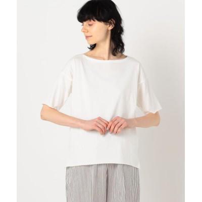 tシャツ Tシャツ v::room コットン ボートネックプルオーバー