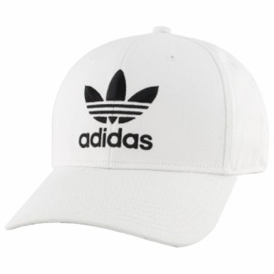 アディダス adidas Originals メンズ キャップ 帽子 Trefoil Precurve Adjustable Cap White