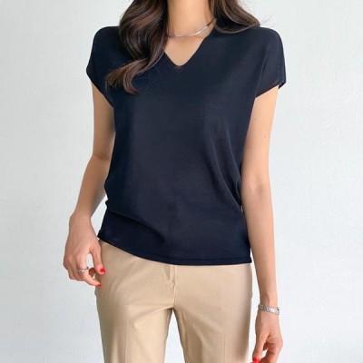 PIPPIN レディース ニット/セーター Slim Cap Sleeve Knitwear #109063