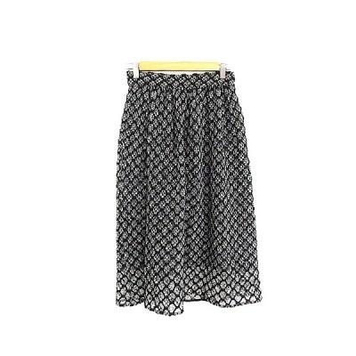 【中古】ザラウーマン ZARA WOMAN スカート ギャザー ミモレ ロング ツイード XS 黒 ブラック /AAM3 レディース 【ベクトル 古着】