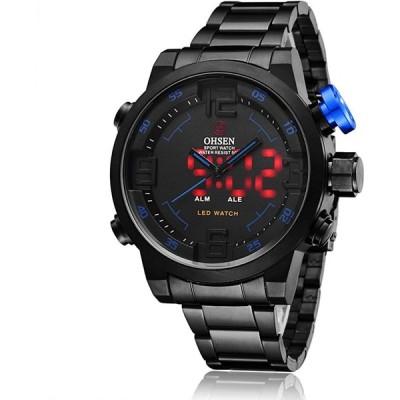 スポーツ 腕時計 デジタル LED 大顔 防水 軍事 ストップウォッチ SIBOSUN メンズ 日本のクォーツ アラーム 日付の日は