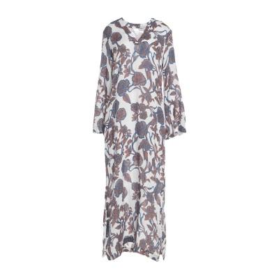 120% ロングワンピース&ドレス ホワイト 42 リネン 100% ロングワンピース&ドレス